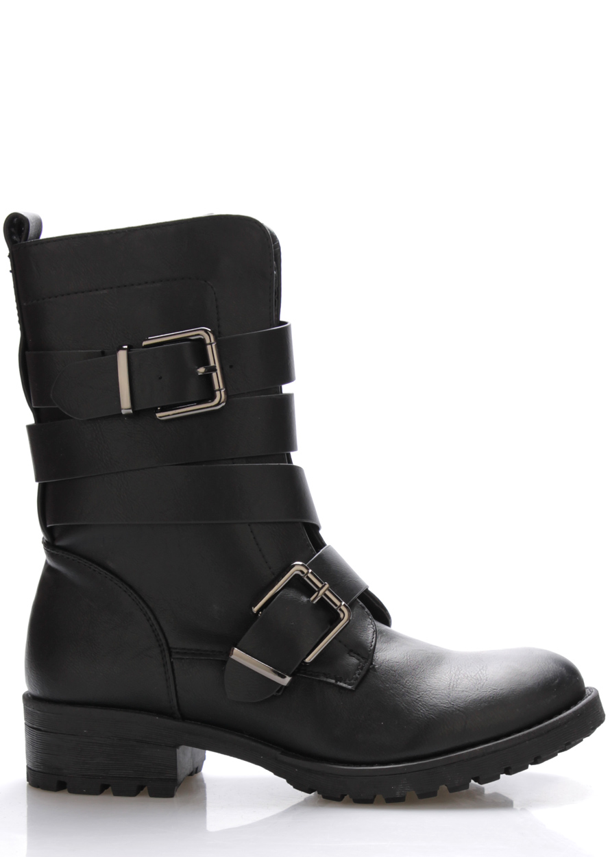 Levně Černé pevné kotníkové boty Monshoe Velikost: 38