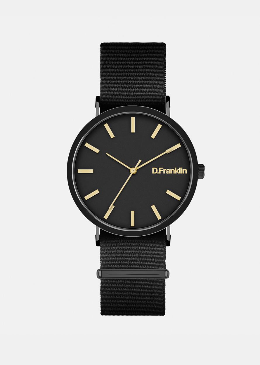 DFranklin Černé hodinky D.Franklin
