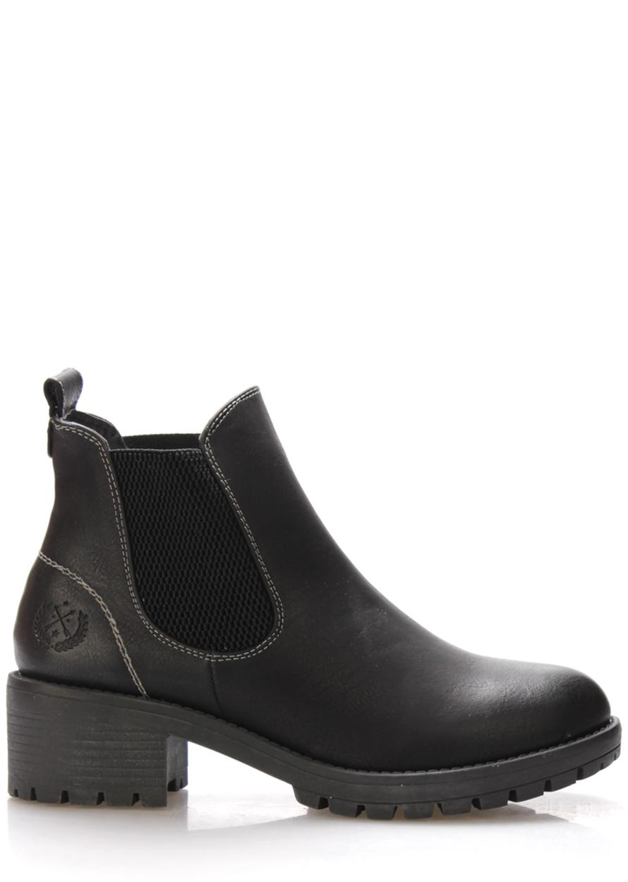 Levně Černé boty na širokém podpatku Jane Klain Velikost: 38
