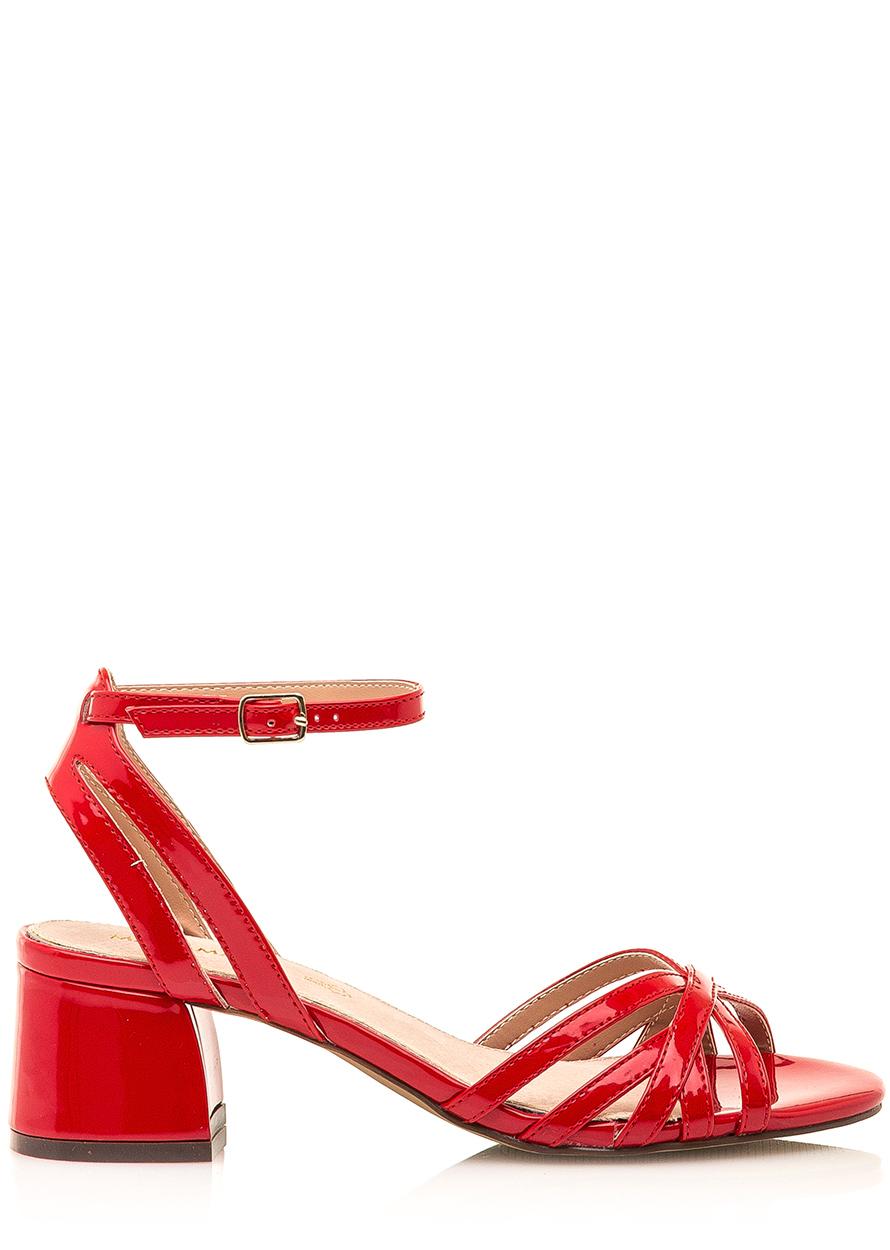 31abd7c75bd5 Červené sandálky s nízkým širokým podpatkem Maria Mare Velikost  38
