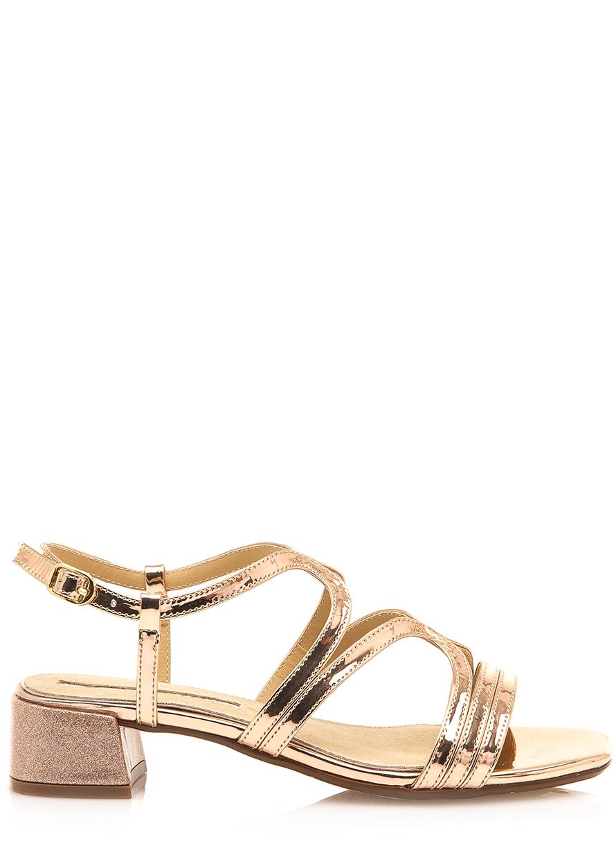c09fe4cefc06 Sandály se širokým podpatkem v růžově zlaté Maria Mare Velikost  36