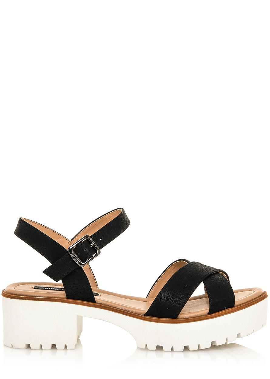 5439bea8554d Černé sandály na rozdělené platformě MTNG Velikost  36