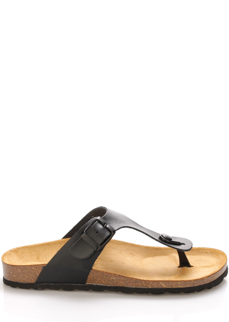Černé kožené zdravotní pantofle EMMA Shoes Velikost: 36