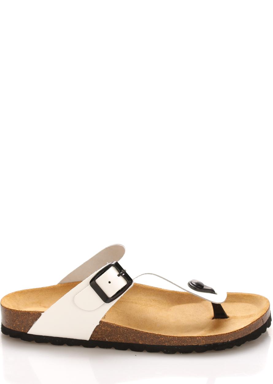 Bílé kožené zdravotní pantofle EMMA Shoes Velikost: 36
