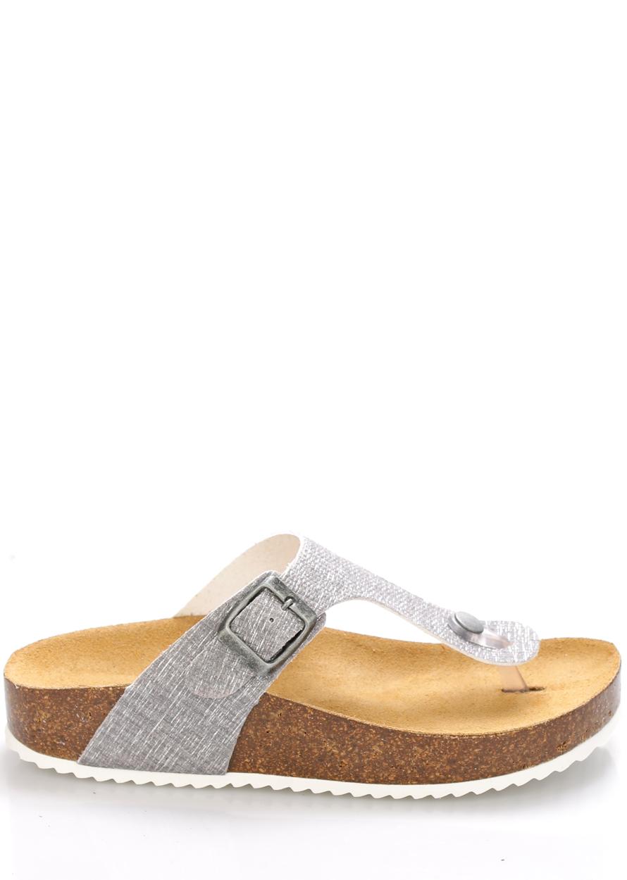 Šedé kožené zdravotní pantofle EMMA Shoes Velikost: 36
