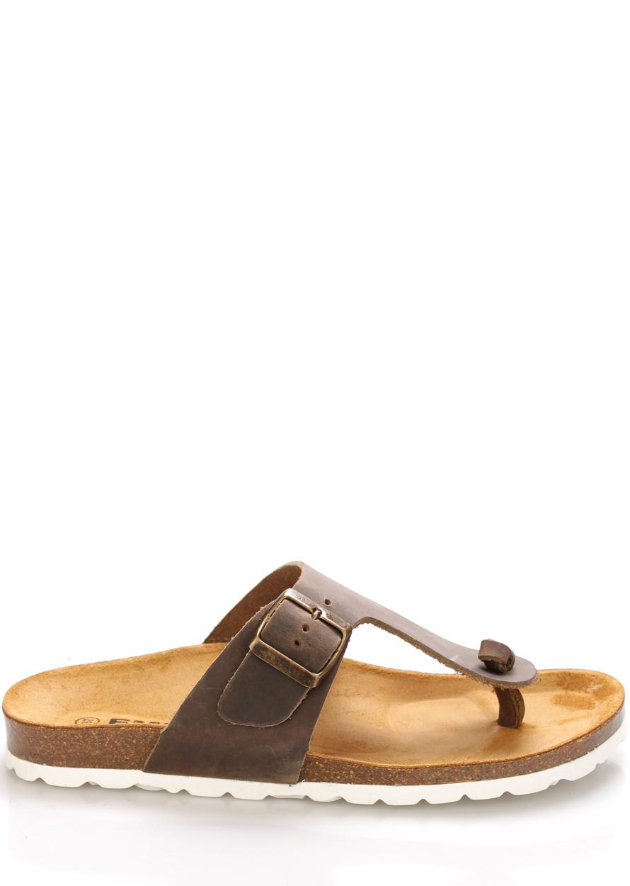 Hnědé kožené zdravotní pantofle EMMA Shoes Velikost: 36