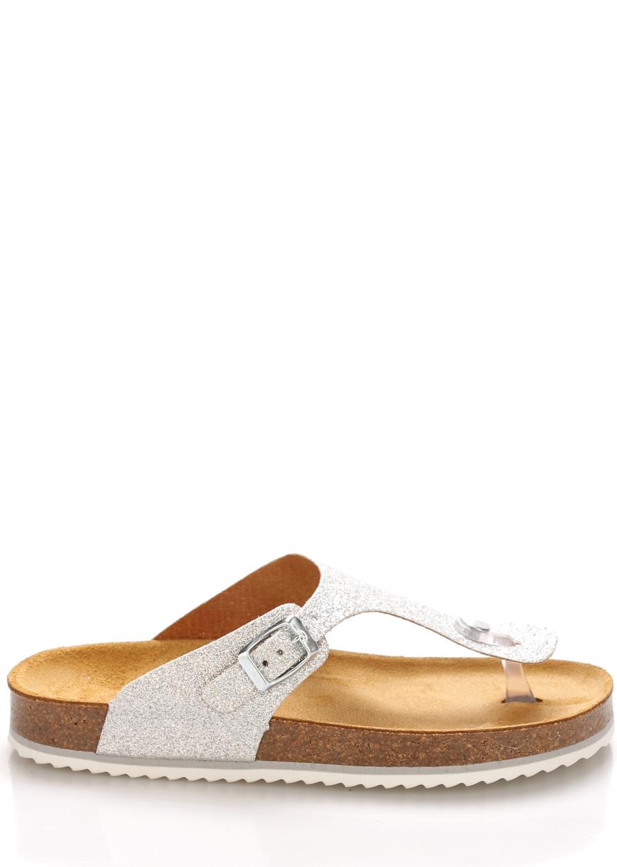 Stříbrné kožené zdravotní pantofle EMMA Shoes Velikost: 36