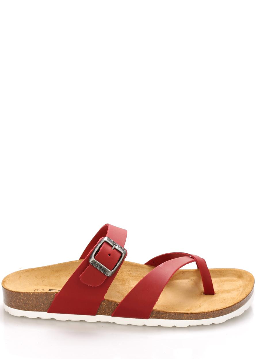 Červené kožené zdravotní pantofle EMMA Shoes Velikost: 36