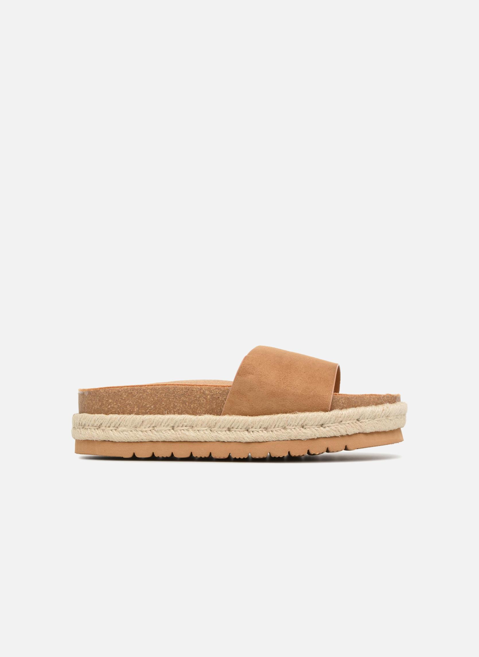 Levně Hnědé pantofle s espadrilovou podrážkou MTNG Velikost: 36