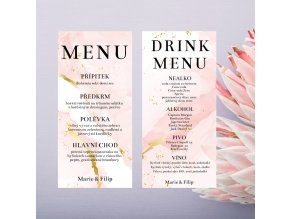 Menu/Drink karta - Akvarel