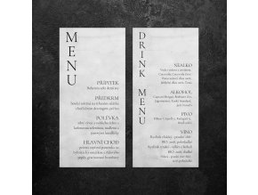 Menu/Drinkkarta - Šedá