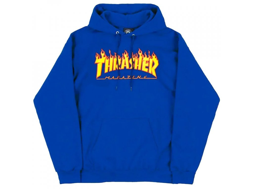 Thrasher - Flame Logo Hoodie Blue