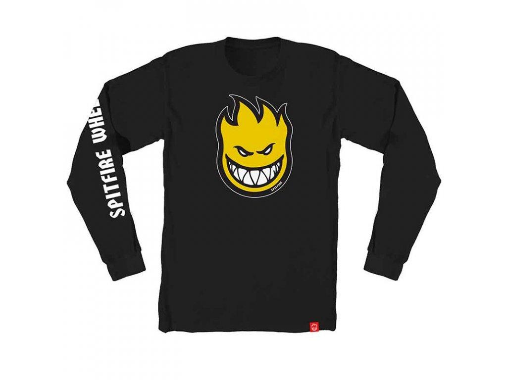 spitfire bighead fill hombre longsleeve t shirt black yellow white 1