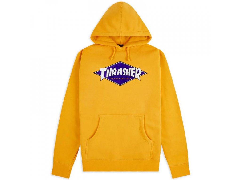 Thrasher - Hood Diamond Logo Gold