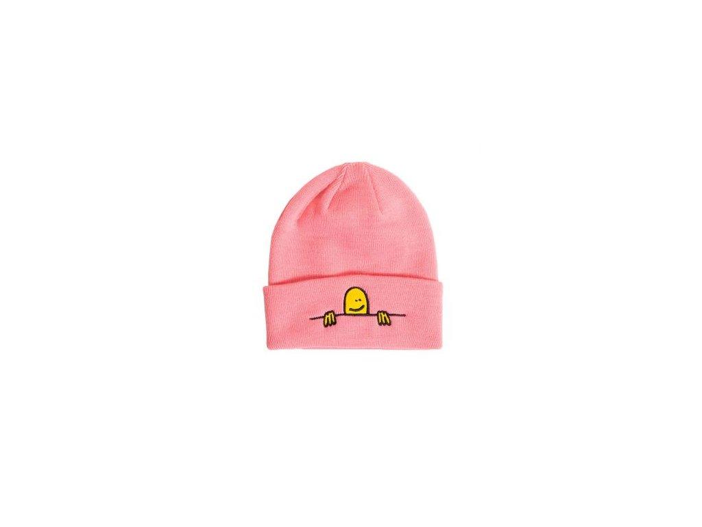 thrasher gonz sad logo beanie pink cathrgonbe