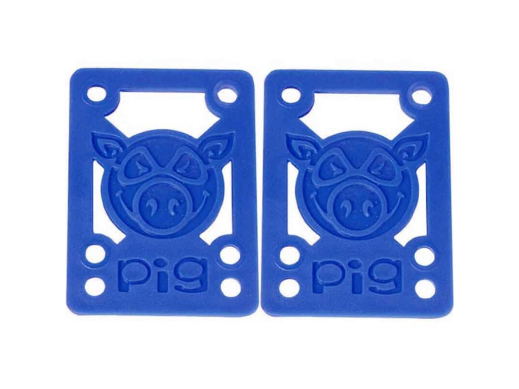 Pig Wheels Risers Blue