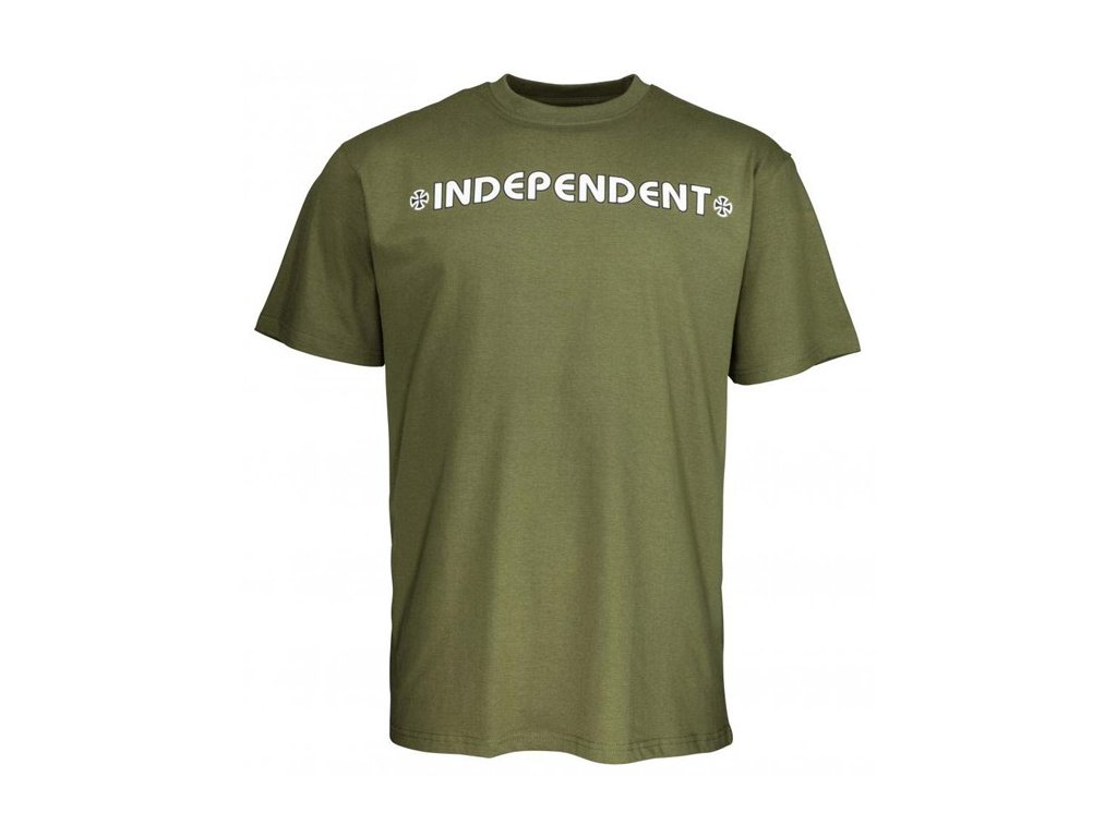 Independent Bar/Cross T-Shirt Army Green