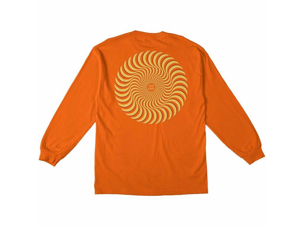 Spitfire - Classic Swirl Long Sleeve - Orange/Yellow