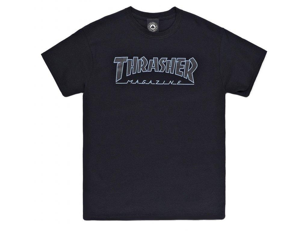 tricko thrasher outlined black black