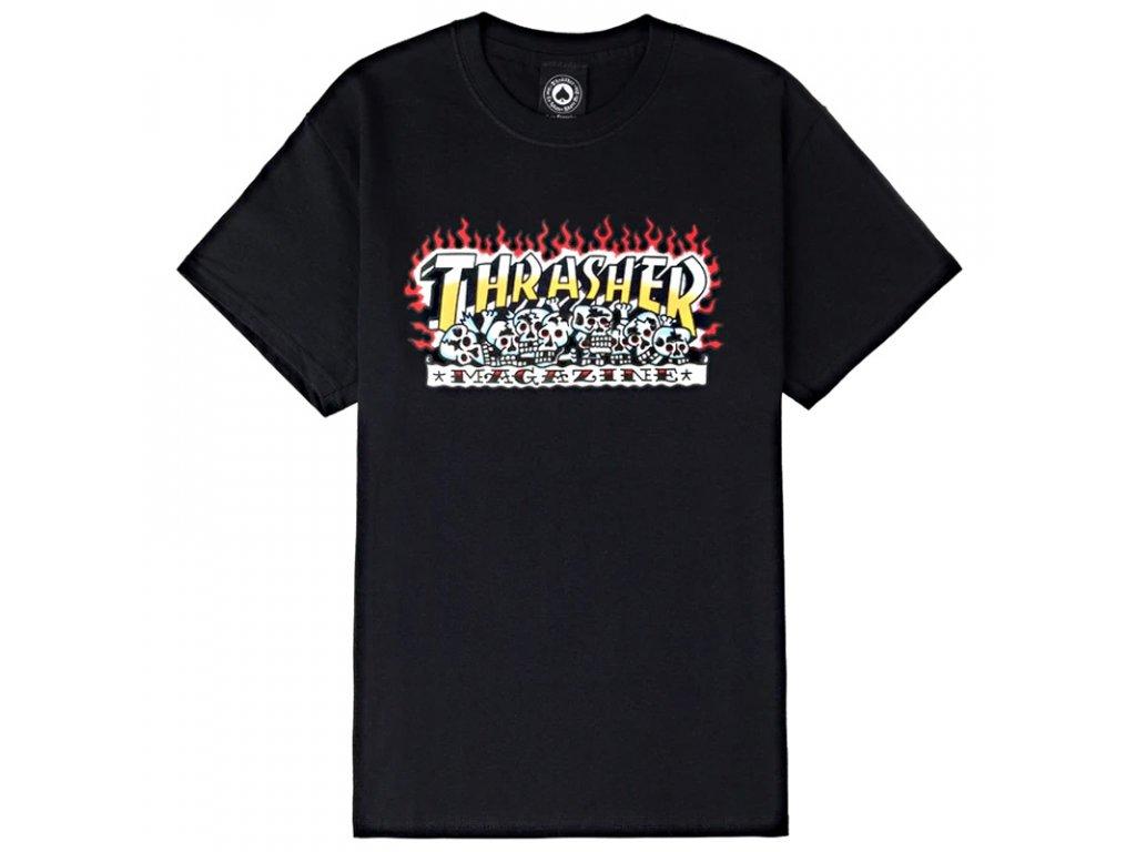 thrasher krak skulls t shirt black 1
