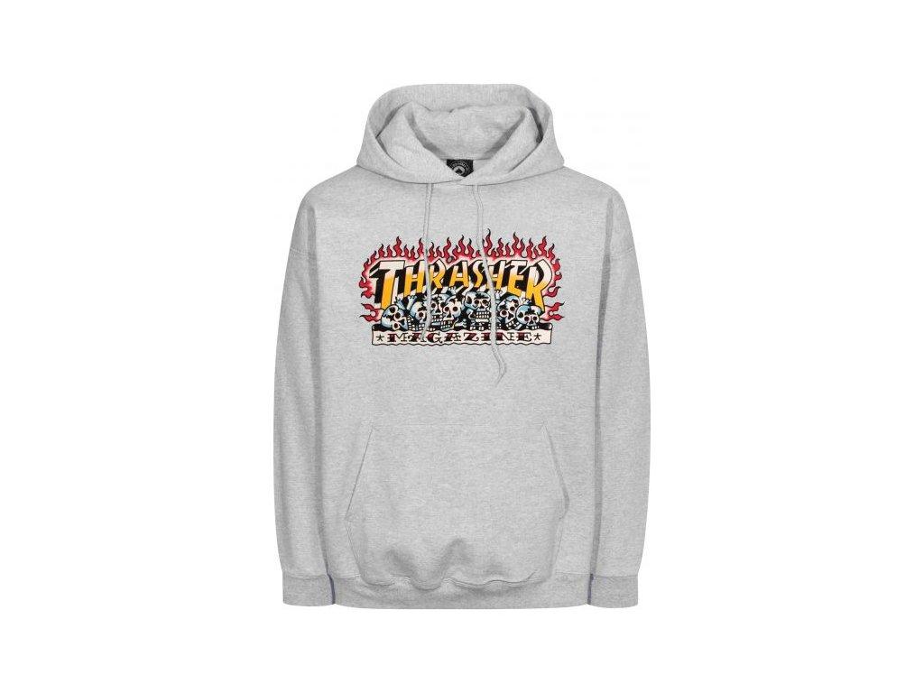 thrasher hoodies krak skulls heathergrey vorderansicht 0446275 600x600