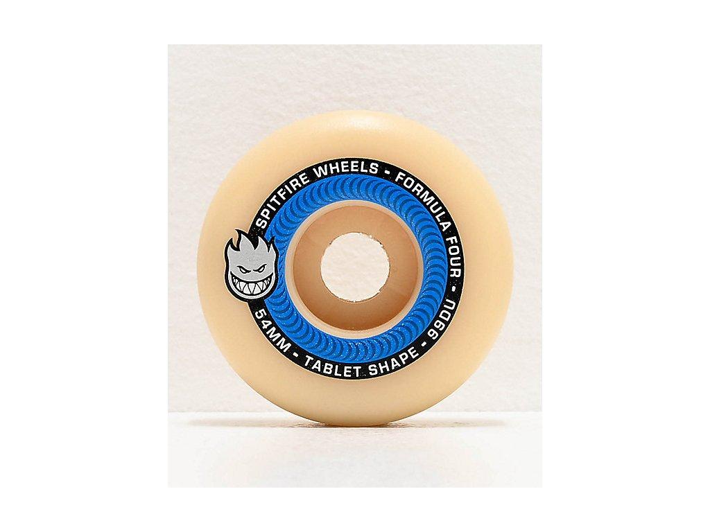 Spitfire Formula Four Tablet 54mm 99a Blue & Natural Skateboard Wheels 321405 (1)