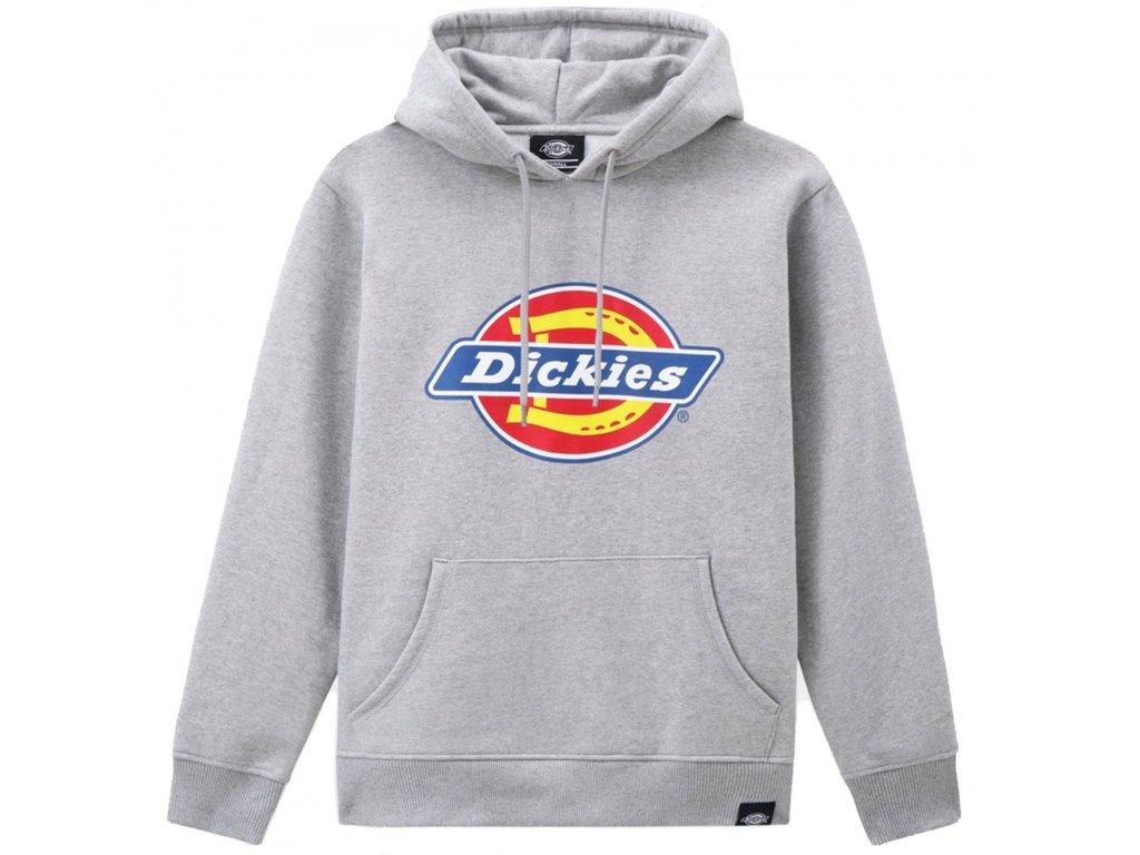 dk0a4xccgym1 dickies hoodie grey melange graa logo2 p