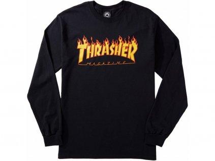 4212 1 thrasher flame logo longsleeve black