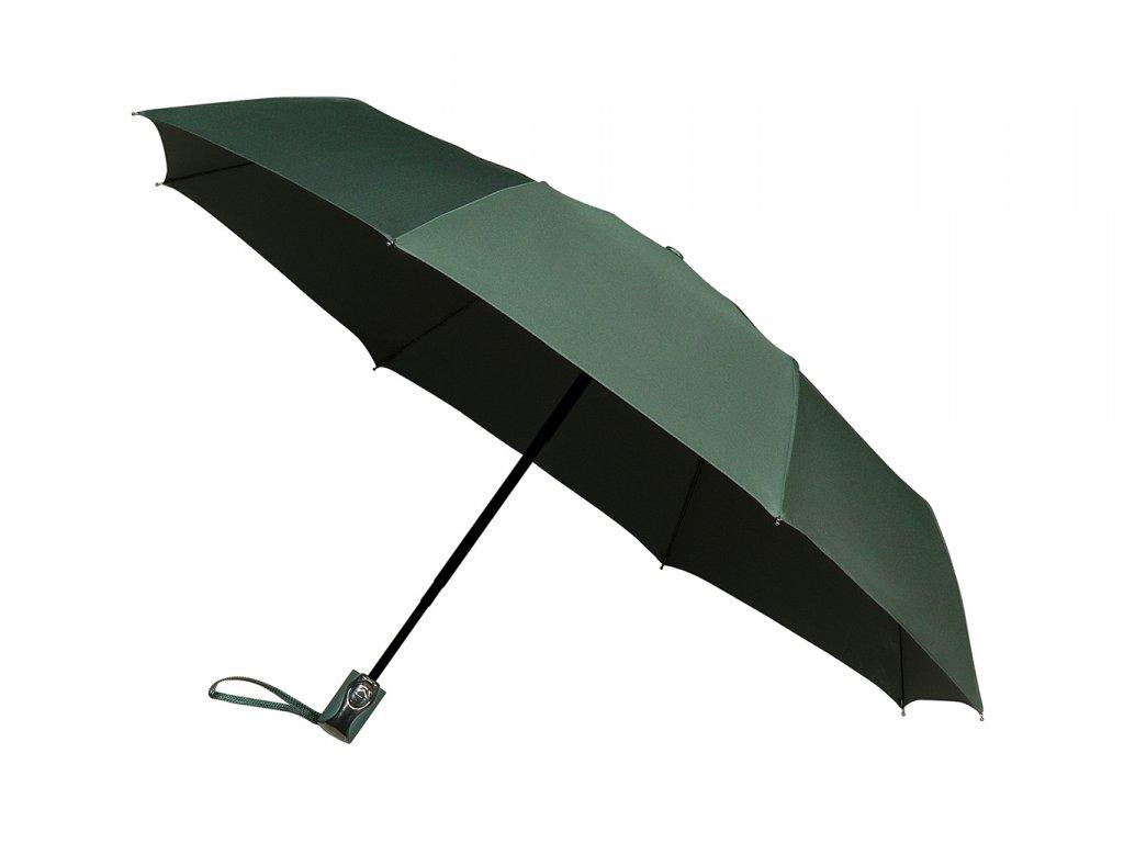 zelený plně automatický deštník minimax