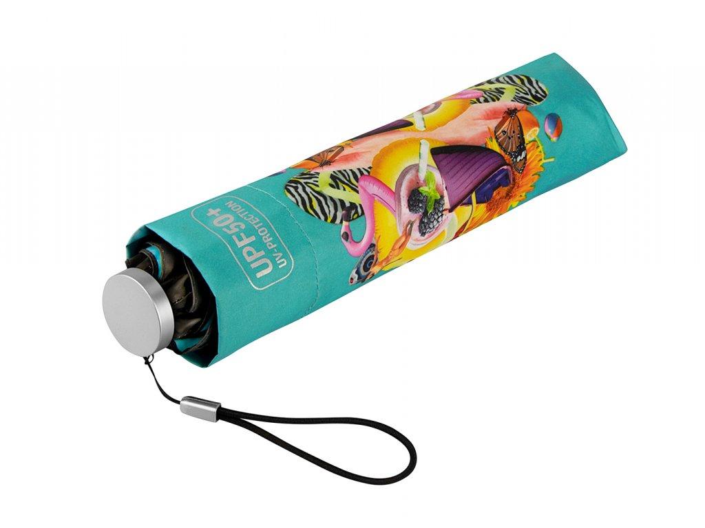 MiniMAX Personal Blue složený deštník s UV ochranou