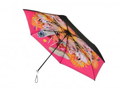 MiniMAX Personal Pink skládací deštník s UV ochranou