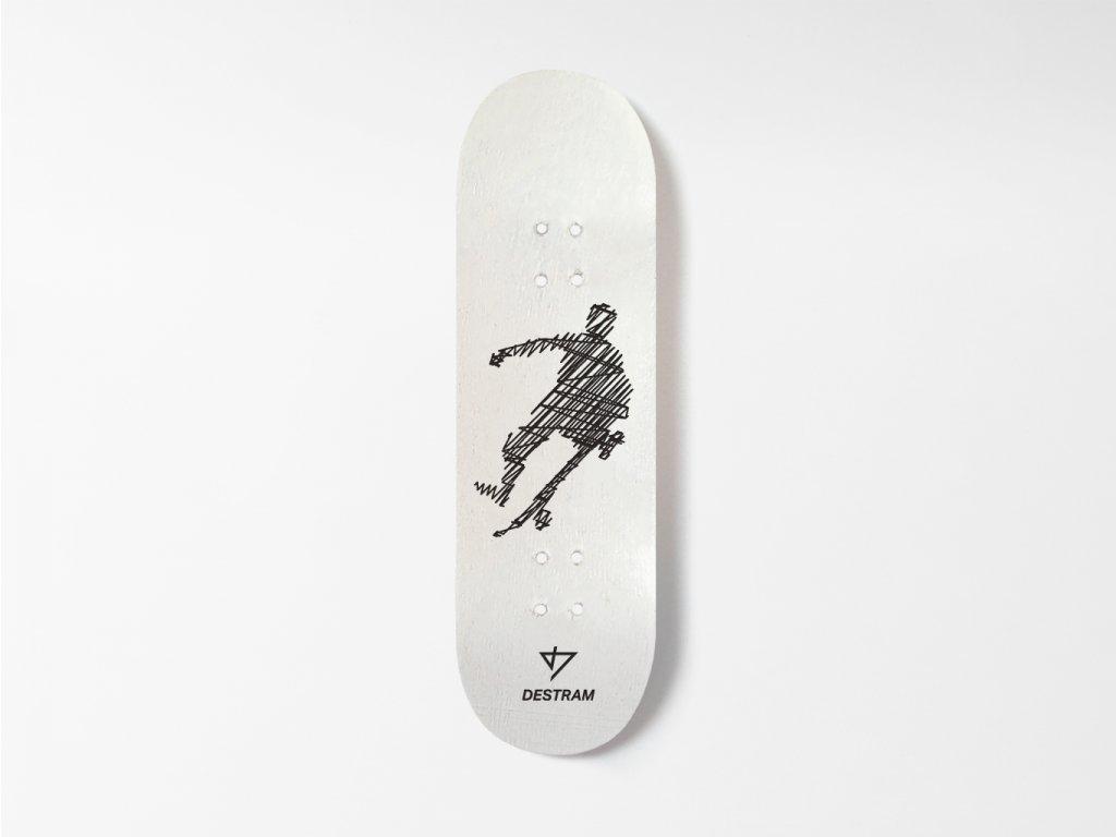 Dřevěná fingerboard deska LINE One foot grab