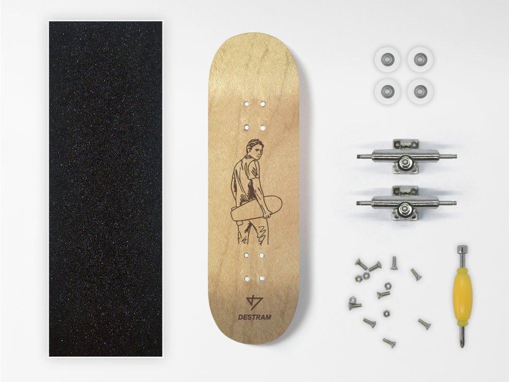 Dřevěný fingerboard komplet SKETCH Sk8 boy