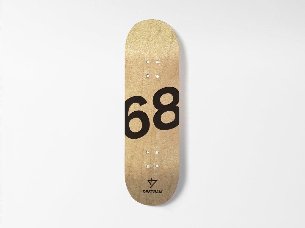Dřevěná fingerboard deska s oblíbeným číslem