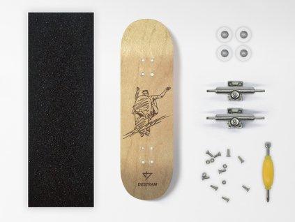 Dřevěný fingerboard komplet SKETCH Grind