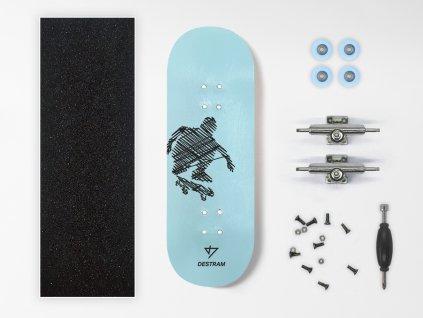 Dřevěný fingerboard komplet LINE Kickflip