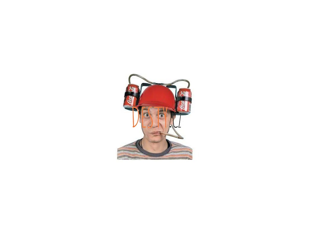 Pivní helma červená