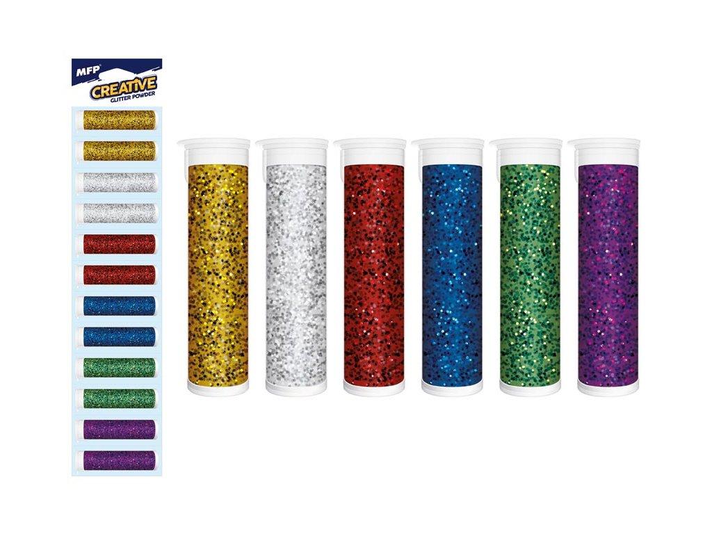 Glitrový pudr 5g mix barev