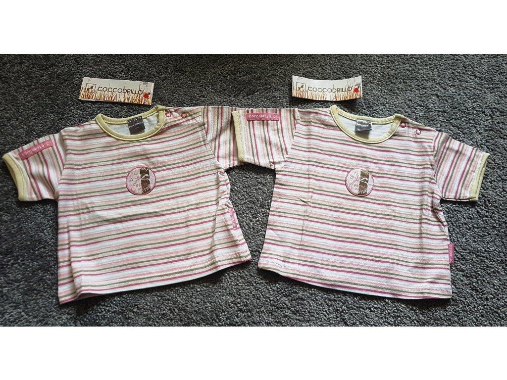 2x tričko zn. Coccodrillo, vel. 68