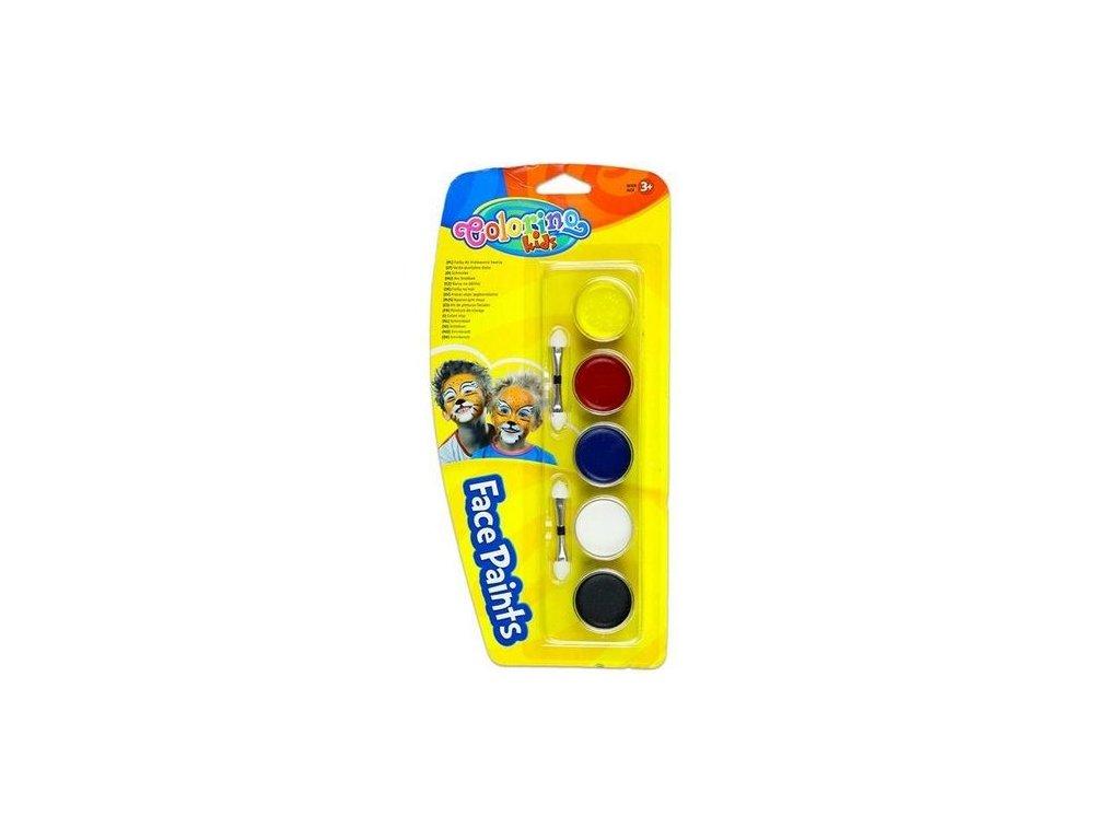Colorino Kids Barvy na obličej 5ks