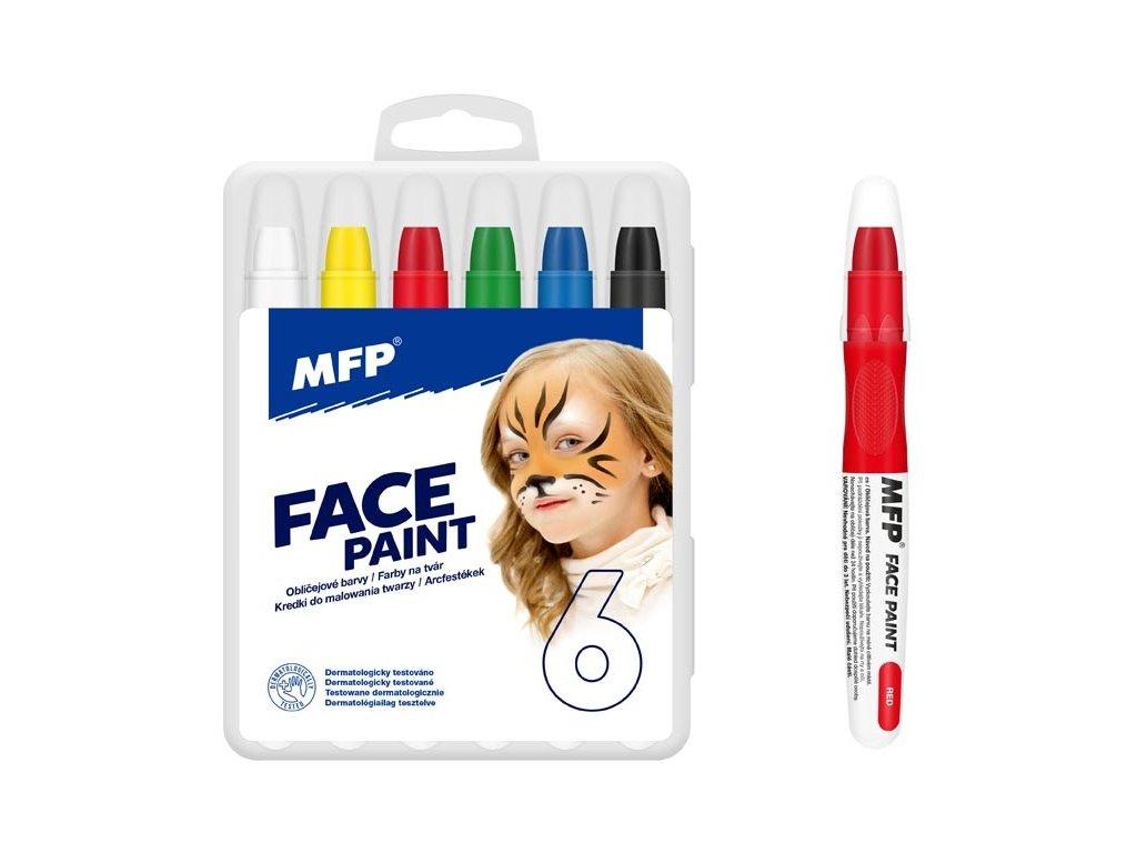 Barvy na obličej 6ks MFP ok