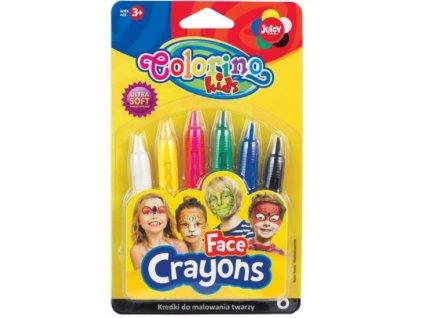 Barvy na obličej Colorino, 6 barev