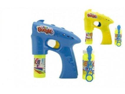 Bublifuk pistole plast 13cm + 2x náplň na baterie