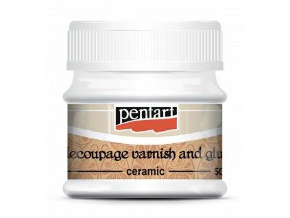 Lepidlo a lak Decoupage na keramiku PENTART 50 ml