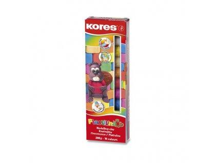 Modelína Kores 10 barev, v krabičce 200 g