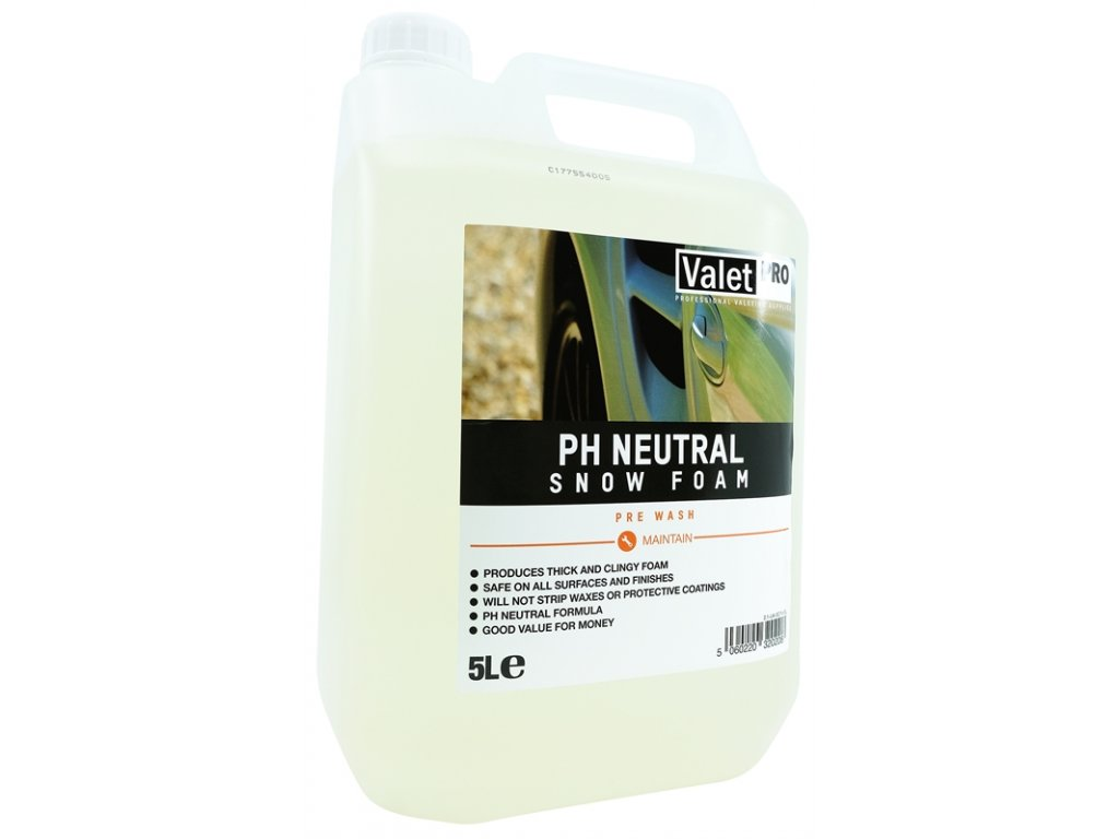 valetpro ph neutral snow foam 5l