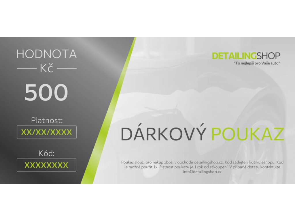 Darkovy poukaz DS 2021 500 vzor