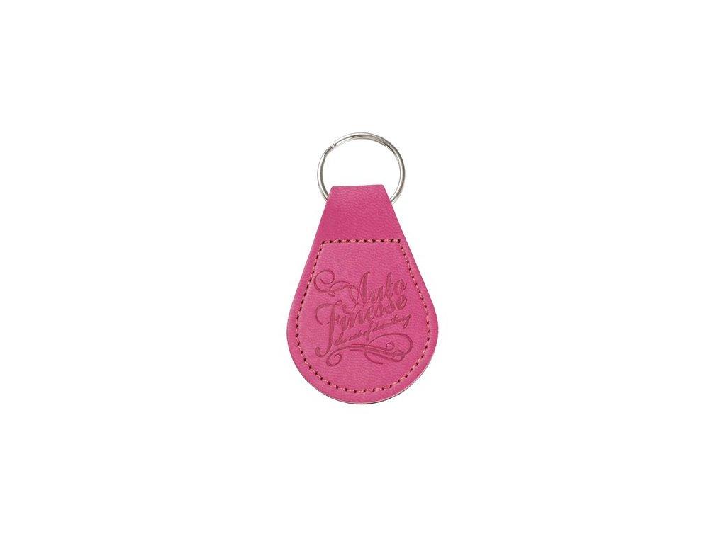 Auto Finesse KeyRing Hot Pink kožený přívěšek