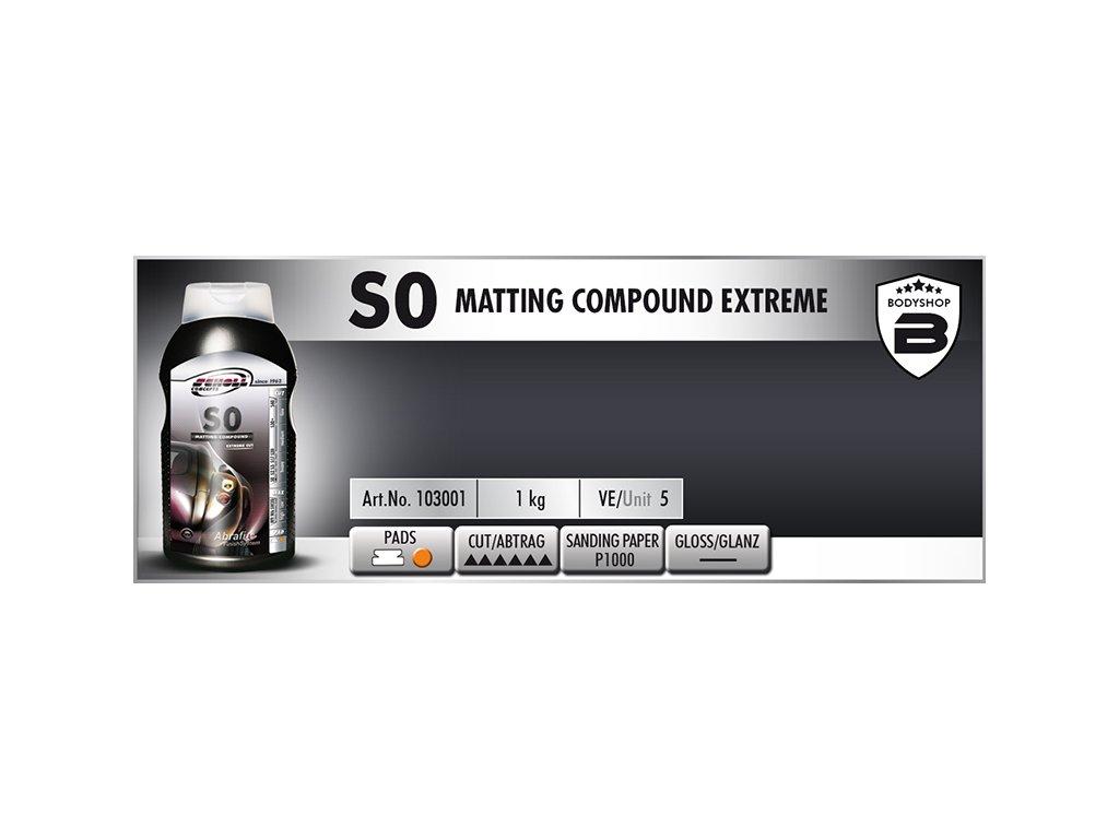 Scholl S0 Matting Compound extreme 1kg silná leštící pasta