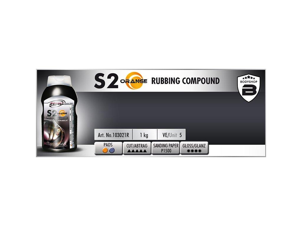 Scholl S2 ORANGE Rubbing Compound 1kg silná leštící pasta